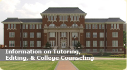 Information on Tutoring, Editing, & College Counseling